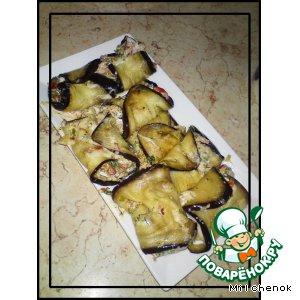 Рецепт Баклажанные рулетики с сырной начинкой