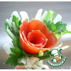 """Рецепт """"Розы"""" для сервировки или закуски"""