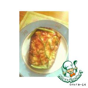 Рецепт Бутерброд с крабовыми палочками и сыром