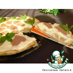 Рецепт Грушевый тарт с творожно-манным кремом