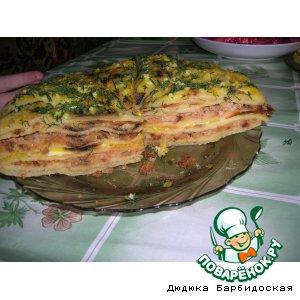 """Рецепт Закусочный торт """"Слоеный Наполеон"""""""