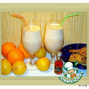 Рецепт Коктейль из мороженого и сока с мякотью