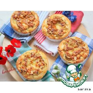 Рецепт Мини-тарты с копчeной рыбой и яблоком