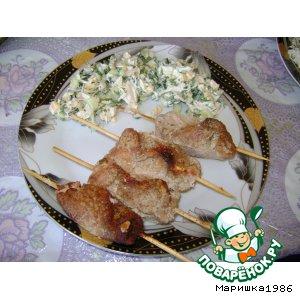 Рецепт Рулетики из свинины на шпажкаж