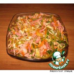 яичный блин салат рецепт #10