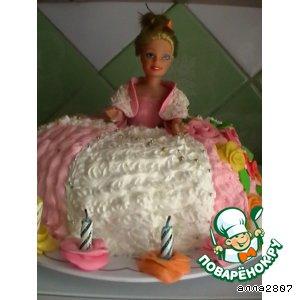 Рецепт Заливной торт-кукла