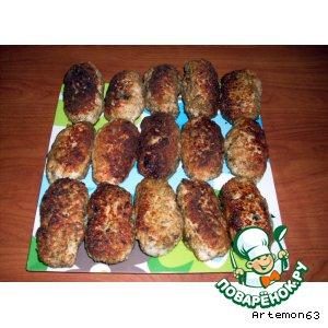 Рецепт Куриные зразы с грибами и сыром