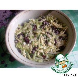 Рецепт Салат из капусты с фасолью