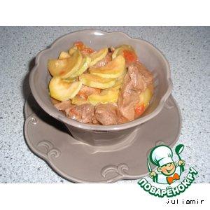 Рецепт Свинина, жаренная с овощами