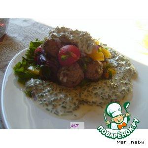 """Рецепт Салат """"Мясные шарики"""""""