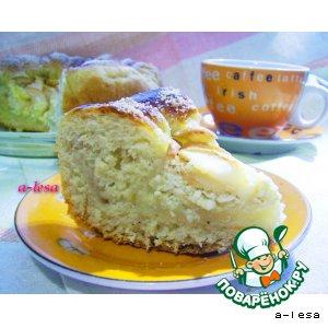 Рецепт Пирог с яблоками и творогом