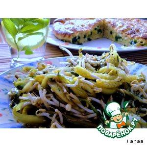 Рецепт Салат с проростками и огурцами