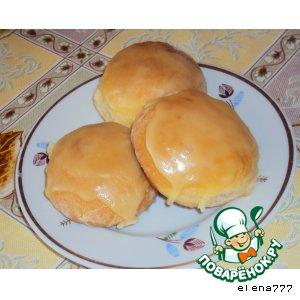 Рецепт Творожные булочки с джемом и мятной помадкой