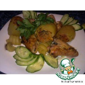 Рецепт Картошка, фаршированная с крылышками
