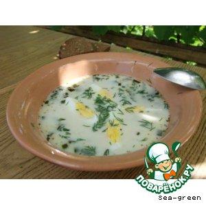 "Рецепт Суп ""Дачный"" из крапивы"
