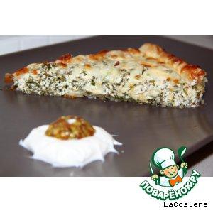 """Рецепт Зеленый пирог """"Дачник"""""""