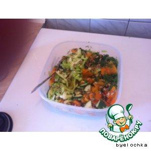Рецепт Салат с запеченной тыквой