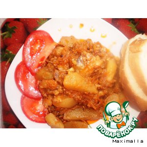 Рецепт Рыбное жаркое в томате