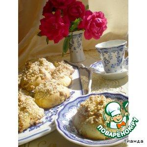 Рецепт Печенье с медом, кунжутом и орехами