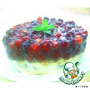 Рецепт Десерт из простокваши с ягодами