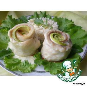 Рецепт Рулетики из рыбы с кабачком