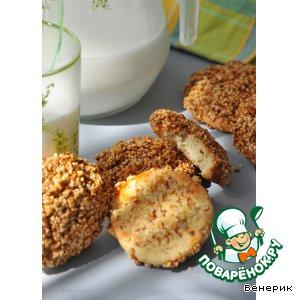 """Рецепт Арабское печенье с медом и кунжутом """"Баразек"""""""