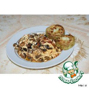 Рецепт Тушеные баклажаны с мидиями