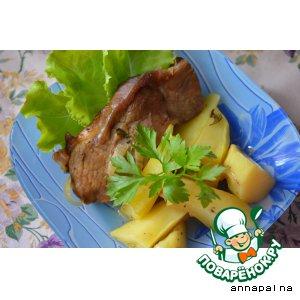 Рецепт Бедро индейки с картофелем в вине