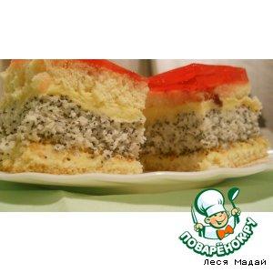 Пирожное с маком и кокосом домашний пошаговый рецепт с фото