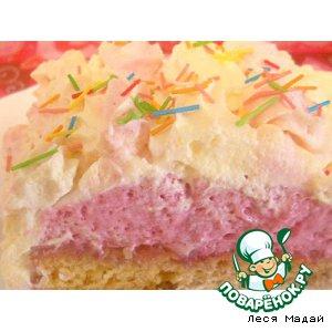 Рецепт Сливочный торт с клубникой