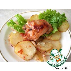 Рецепт Курица в томатно-соевом соусе