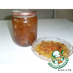 Рецепт Варенье из белой черешни с лимоном и орехами