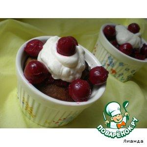 Рецепт Шоколадный пудинг с вишневым соусом