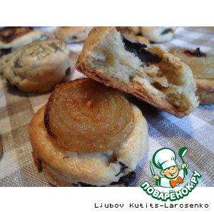 Рецепт Американские грибные булочки с луком (Mushroom Onion Scones)