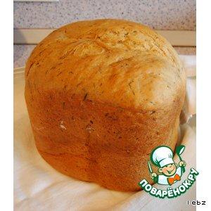 Рецепт Хлеб с укропом и чесноком