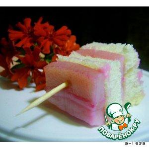 Рецепт Маринованный шпиг (сало) и салат