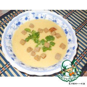 Рецепт Суп-пюре из красной чечевицы и картофеля