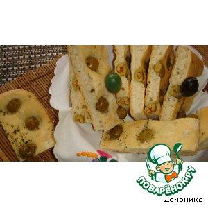 Рецепт Фокачча с луком и оливками