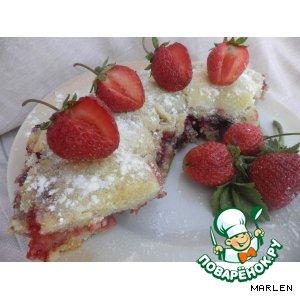 Рецепт Клубничный насыпной пирог