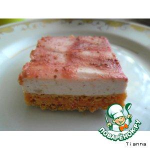 Рецепт Кокосово-клубничное пирожное