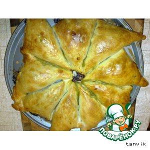 Рецепт Слоеные пирожки с семгой и пастой из мидий