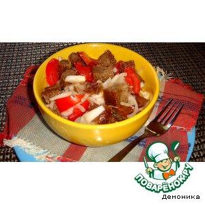 Рецепт Салат из ржаного хлеба с помидорами