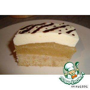 Рецепт Яблочное слоеное пирожное-суфле