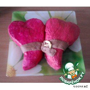 "Рецепт Торт ""Два сердца"""