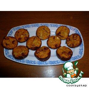 Рецепт Кексы из кабачков с копчеными сосисками