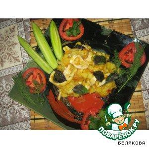 Рецепт Картошка, жаренная с кальмарами