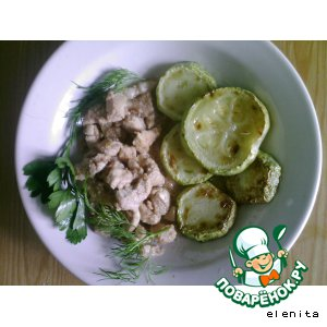 Рецепт Курица тушeная в маринаде из аджики и лимона