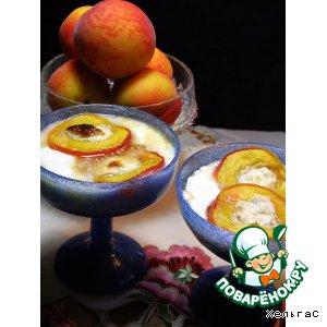 Рецепт Запеченные персики с йогуртом или мороженым