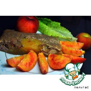 Рецепт Печень куриная в желе из персиков