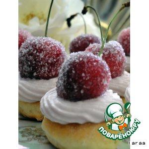 Рецепт Пирожное «Зимняя вишня»